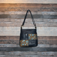 Load image into Gallery viewer, CIARA Crossbody - navy blue, cork, soft, vegan leather, handcrafted, handmade