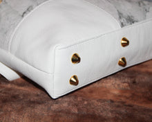 Load image into Gallery viewer, CIARA Crossbody - white, marble, soft, vegan leather, handcrafted, handmade