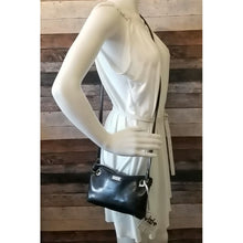 Load image into Gallery viewer, Clutch Crossbody - brown, dark brown, vinyl, faux leather, handcrafted, handmade