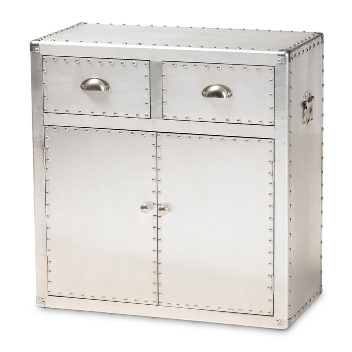 Serge French Provincial 2-Door Metal Cabinet