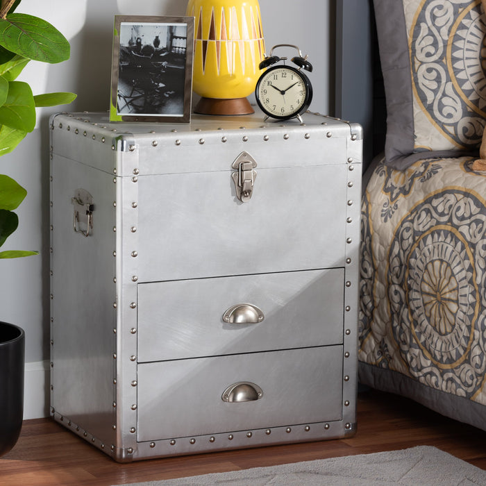 Serge French Provincial 2-Drawer Metal Chest