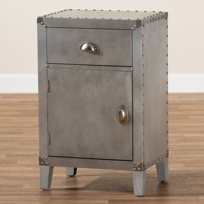 Romain French Provincial (1-Door) Metal Cabinet