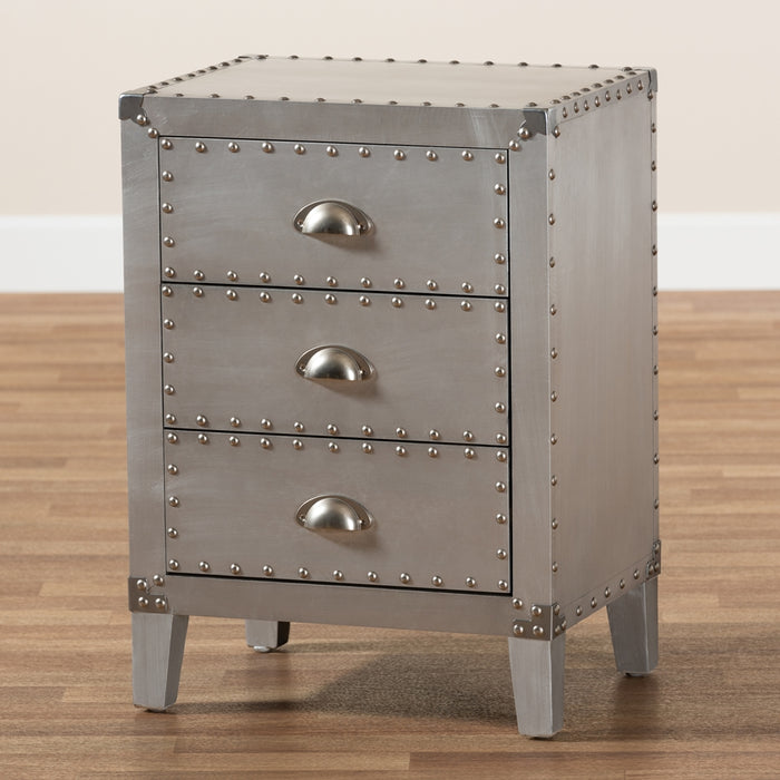 Claude French Provincial (3-Drawers) Metal Nightstand