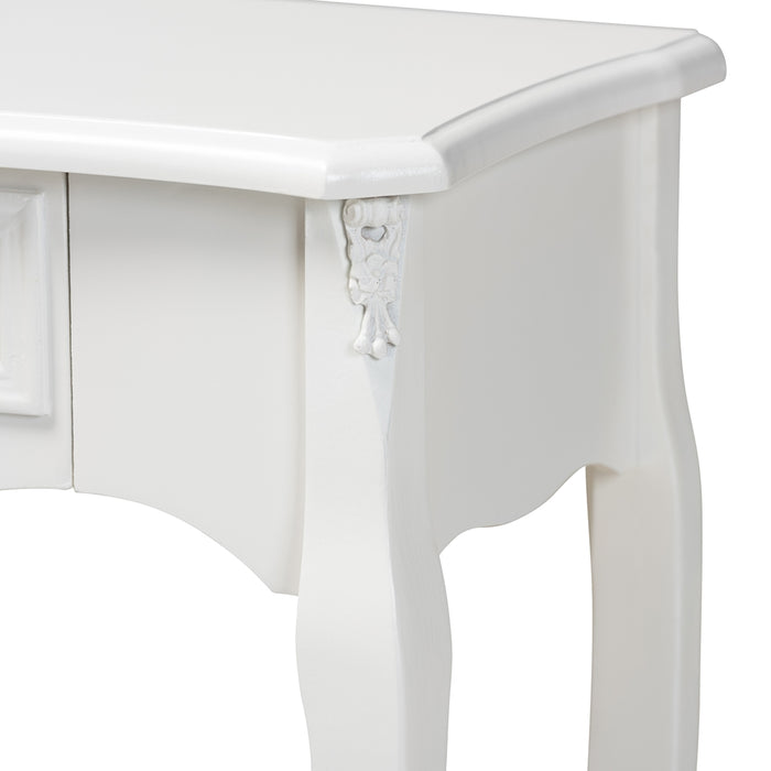 Gabrielle French Provincial 1-Drawer Wood Console Table