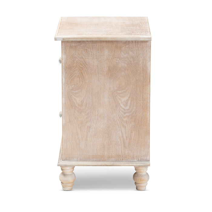 Celia Transitional (2-Drawer) Wood Nightstand