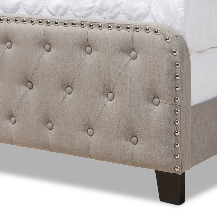 Annalisa Transitional Tufted Panel Bed
