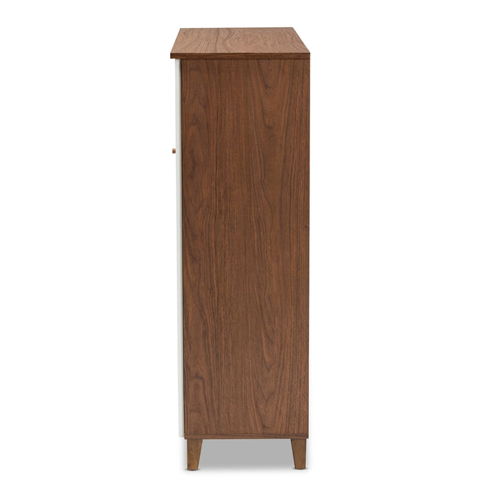 Coolidge Modern 11-Shelf Wood Shoe Cabinet