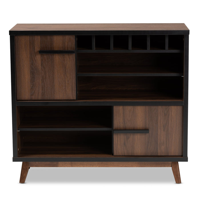 Margo Mid-Century Wood Wine Cabinet