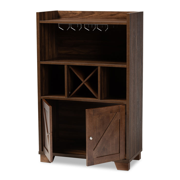 Carrie Farmhouse Wood Wine Cabinet