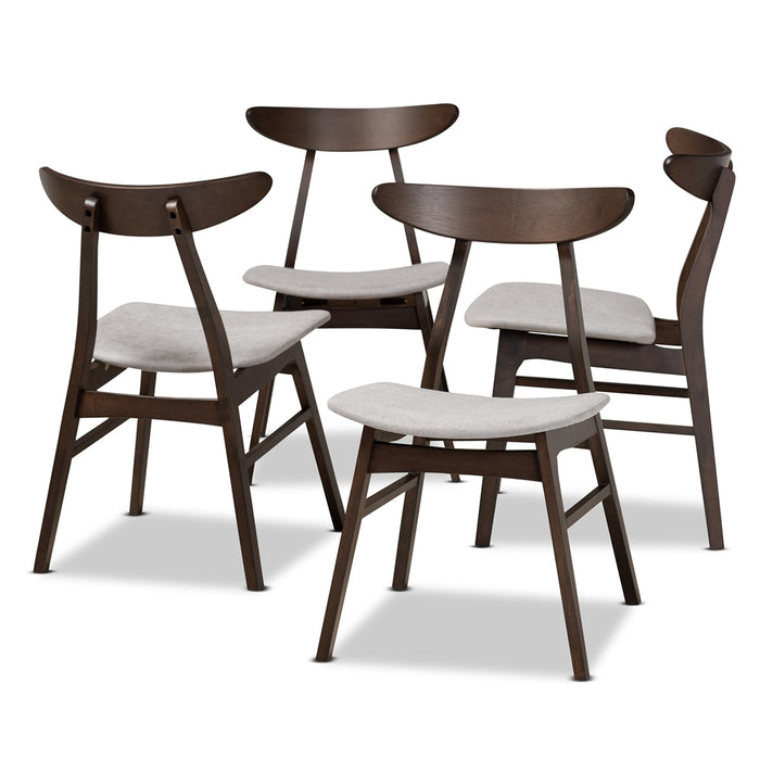 Britte Mid-Century (Set of 4) Wood Dining Chair