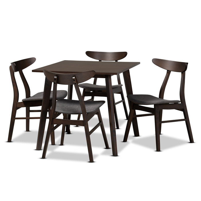 Britte Mid-Century Wood (5-Piece) Dining Set