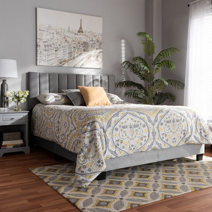 Clare Glam Panel Bed