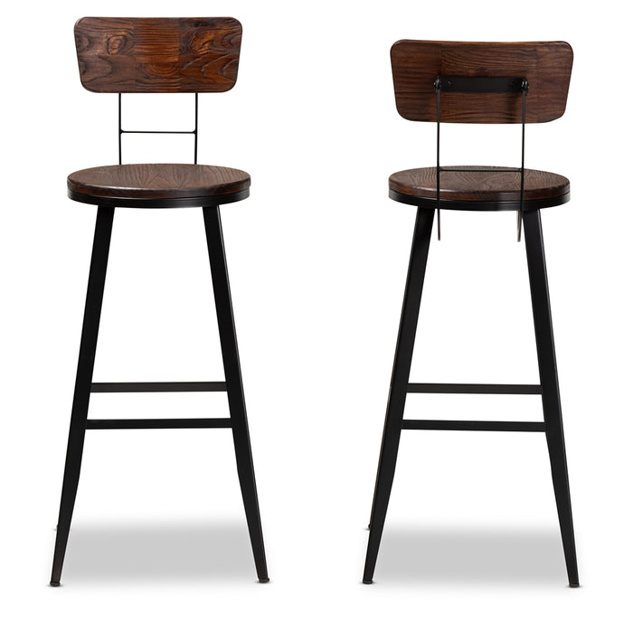 Kenna Vintage (Set of 2) Wood Bar Stools