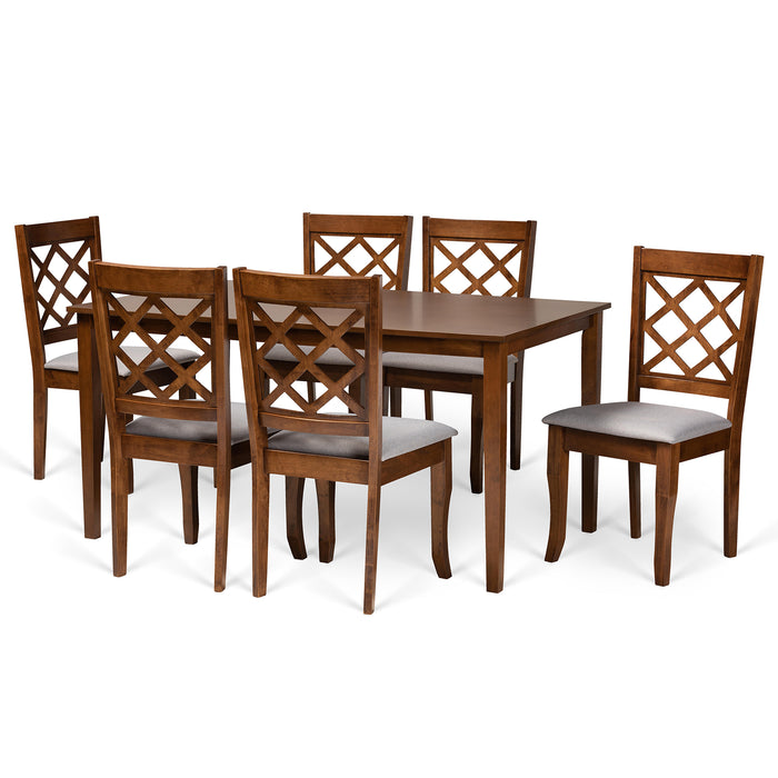 Verner Modern Wood (7-Piece) Dining Set