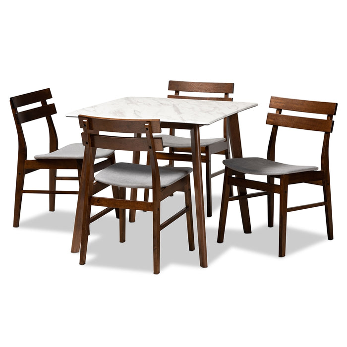 Richmond Mid-Century (5-Piece) Wood Dining set