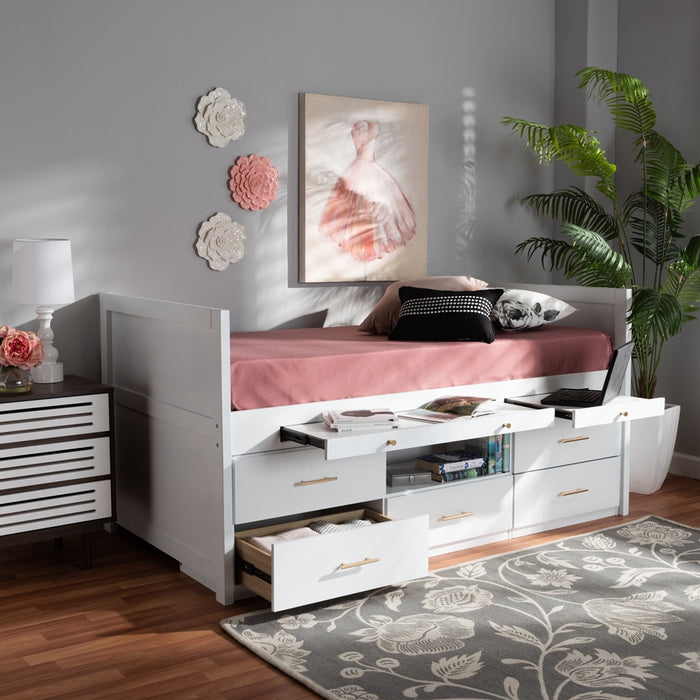 Mirza Modern Wood  Platform Storage Bed