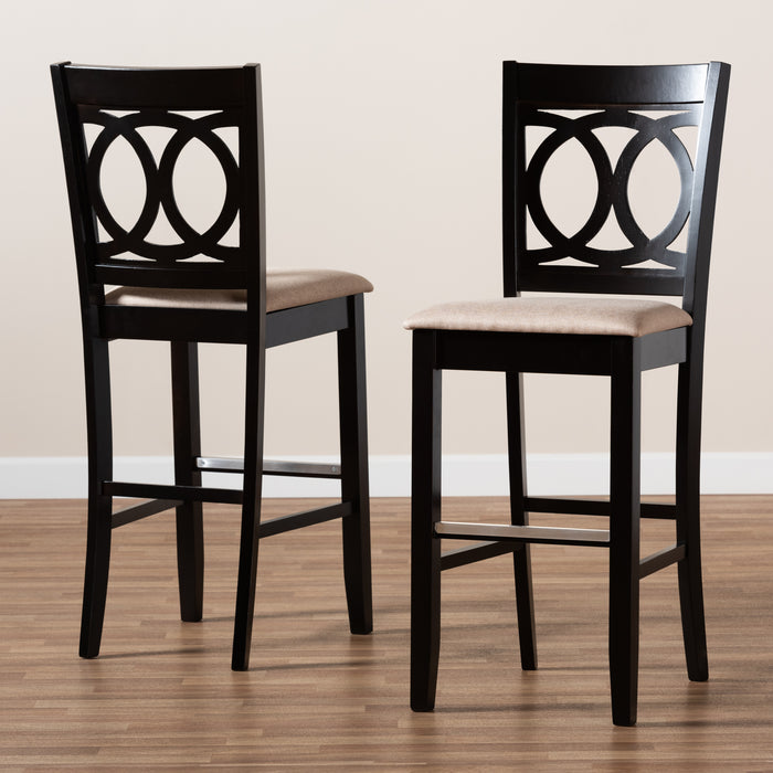 Carson Modern (Set of 2) Wood Bar Stools