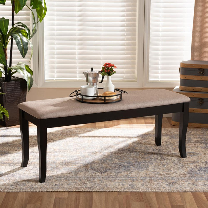 Cornelie Transitional Wood Dining Bench