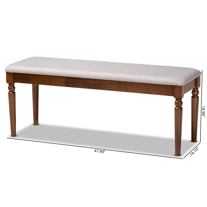 Giovanni Modern Wood Dining Bench