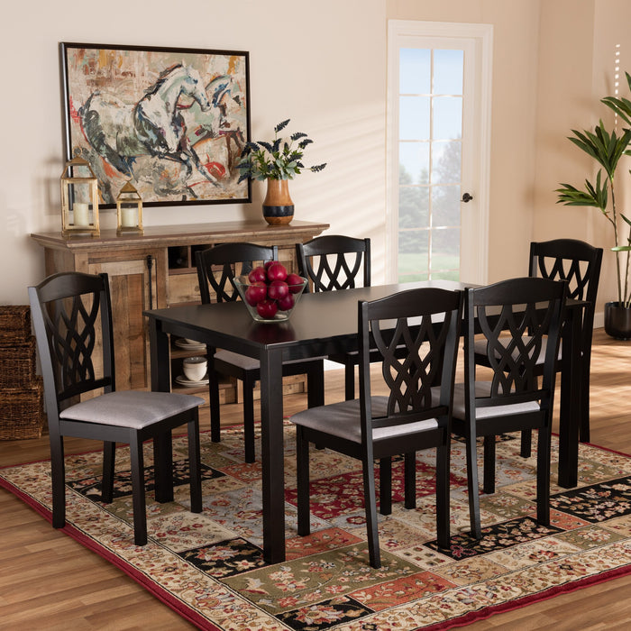 Salem Modern Wood 7-Piece Dining Set