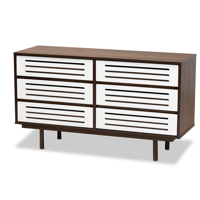 Meike Mid-Century (6-Drawer) Wood Dresser