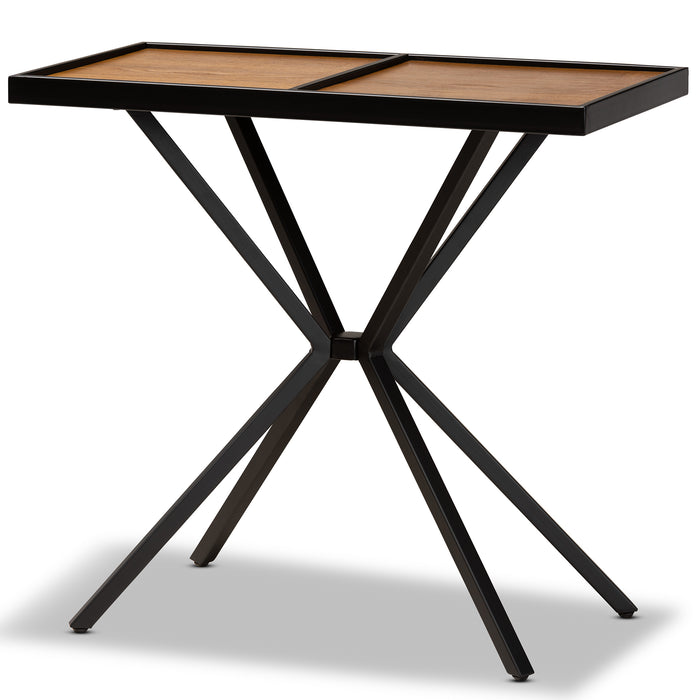 Carlo Modern Wood and Metal Console Table