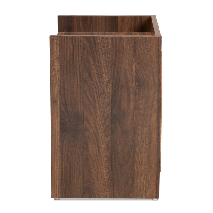 Hale Walnut 2-Drawer Nightstand