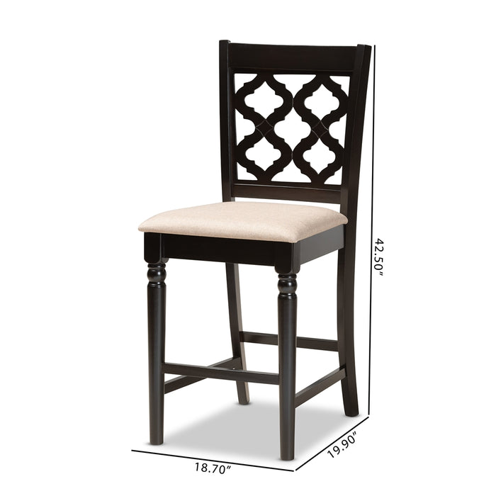 Ramiro Modern (Set of 2) 2-Piece Wood Counter Stool