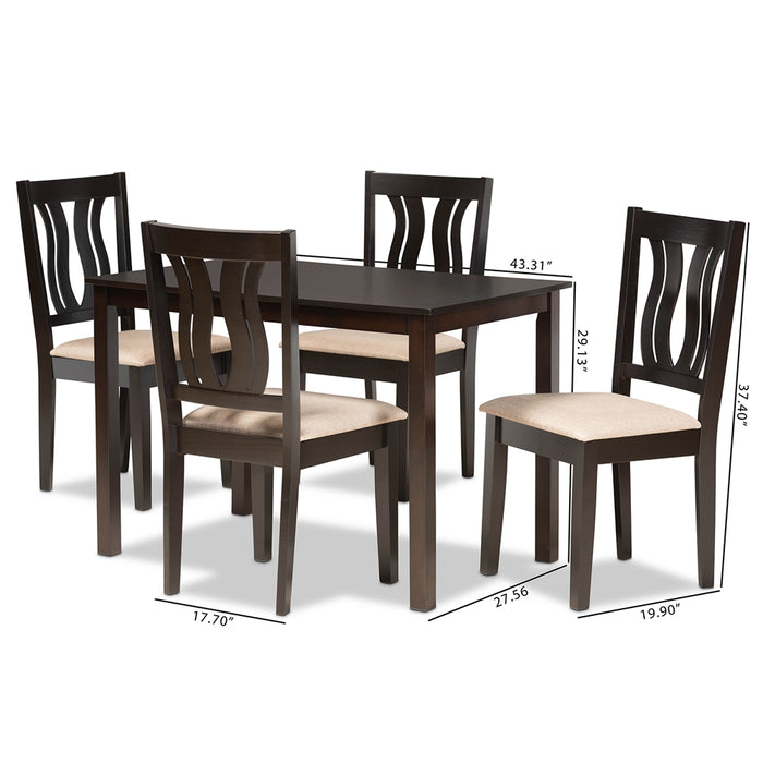 Fenton Modern Wood (5-Piece) Dining Set