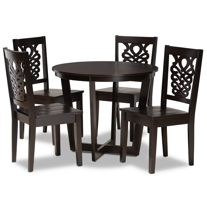 Salida Modern Wood (5-Piece) Dining Set