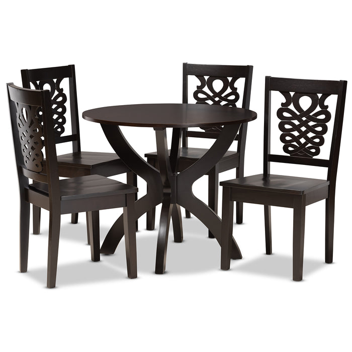 Wanda Modern Wood 5-Piece Dining Set
