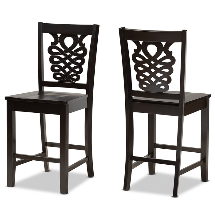 Gervais Modern (Set of 2) Wood Counter Stool