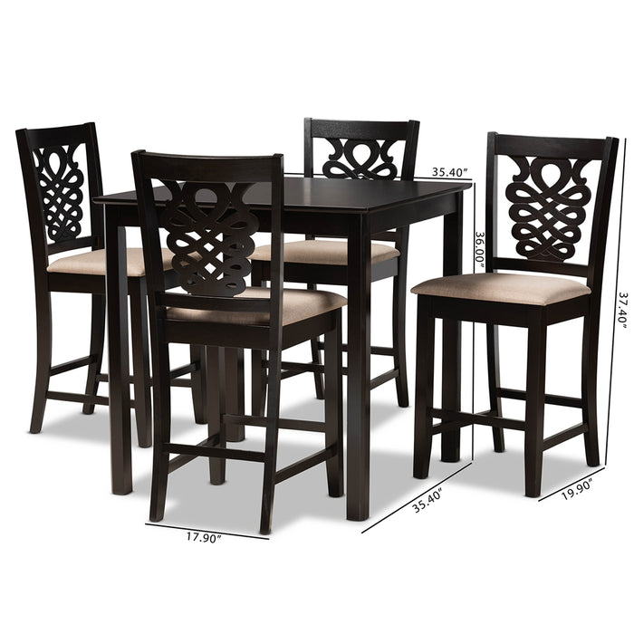 Gervais Modern (5-Piece) Wood Pub Set