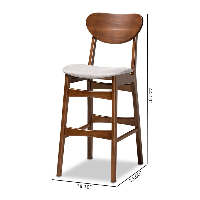 Katya Mid-Century (Set of 2) Wood Bar Stool