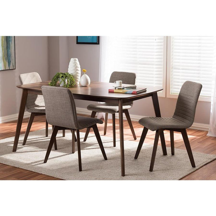 Sugar Mid-Century Wood 5-Piece Dining Set