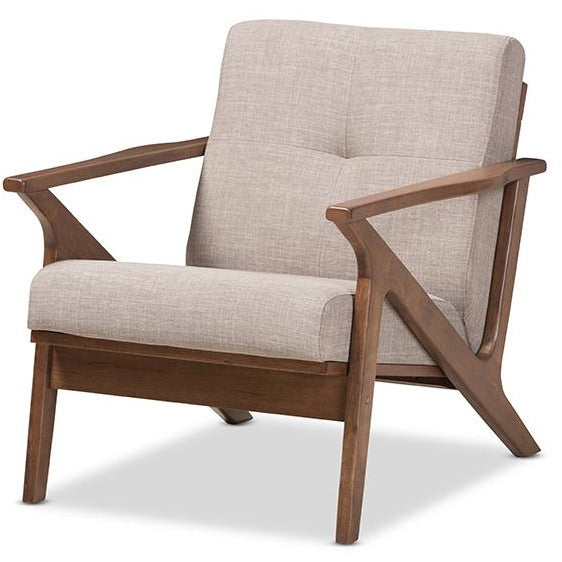Bianca Mid-Century Wood Tufted Chair