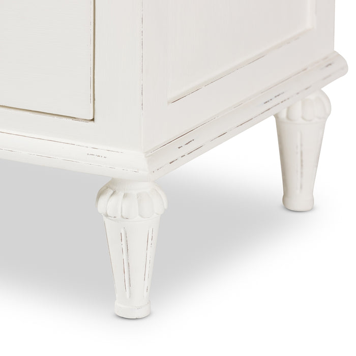 Venezia Provincial Style (3-Drawers) Wood Nightstand