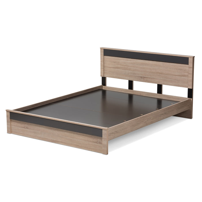 Jamie Contemporary Wood Platform Bed