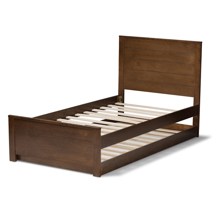 Catalina Mission Wood Bed With Trundle