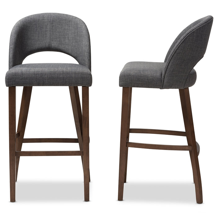 Melrose Mid-Century Wood Bar Stools
