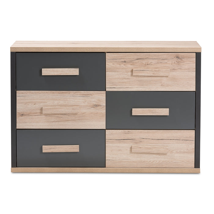 Pandora Contemporary 6-Drawer Wood Dresser