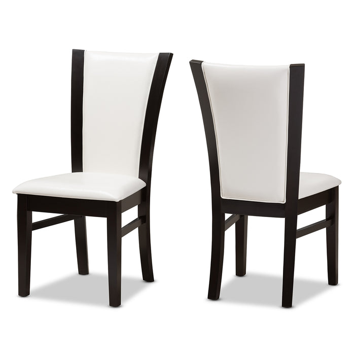 Adley Contemporary Leather (5-Piece) Dining Set