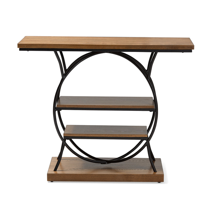 Lavelle Vintage Industrial Wood and Metal Console Table