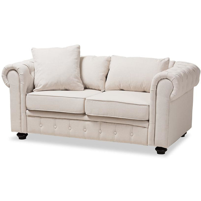 Alaise Modern 2-Seater Chesterfield Loveseat