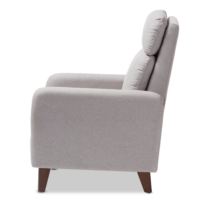 Casanova Mid-Century Fabric Lounge Chair