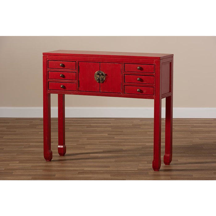 Melodie Country Cottage Wood Console Table