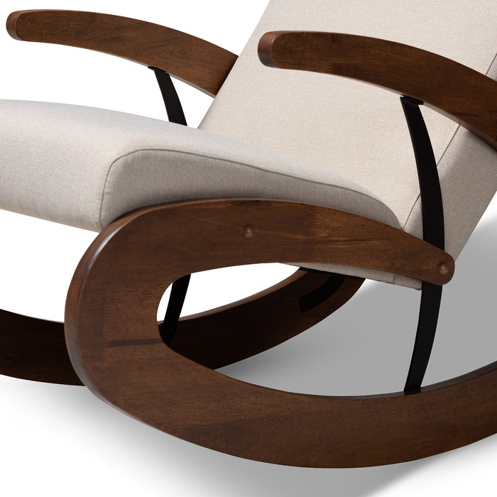 Kaira Contemporary Wood  Rocking Chair
