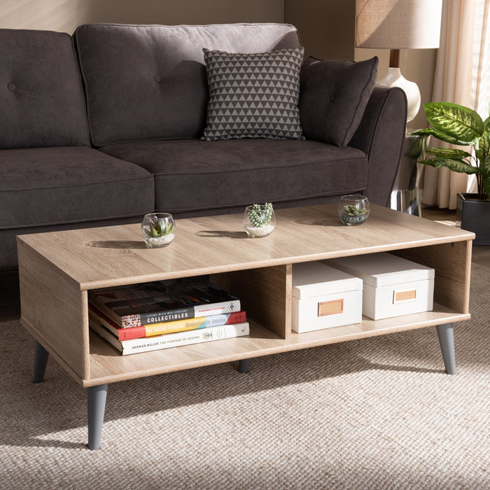 Pierre Mid-century Wood Coffee Table