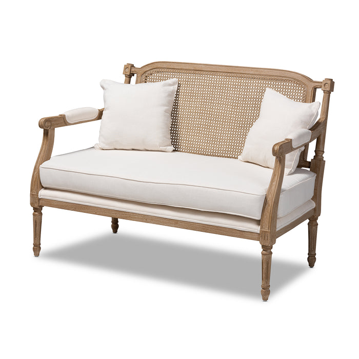 Clemence French Provincial Wood Loveseat