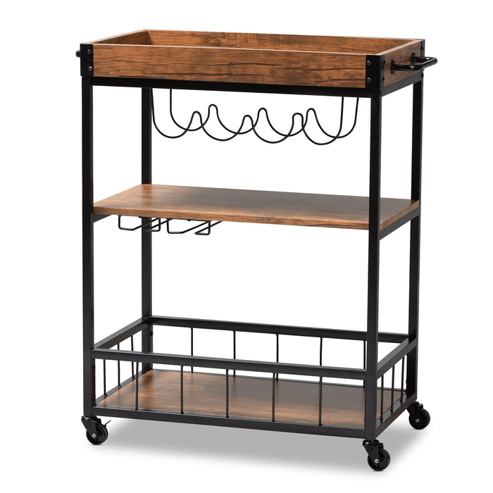 Cerne Vintage Industrial Metal Bar Carts